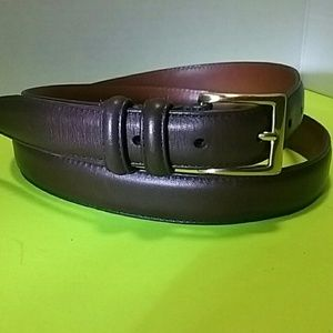COACH 38 BELT SOLID BRASS BUCKLE,   BROWN LEATHER